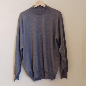 Gran Sasso 100% Cashmere gray italian knit sweater